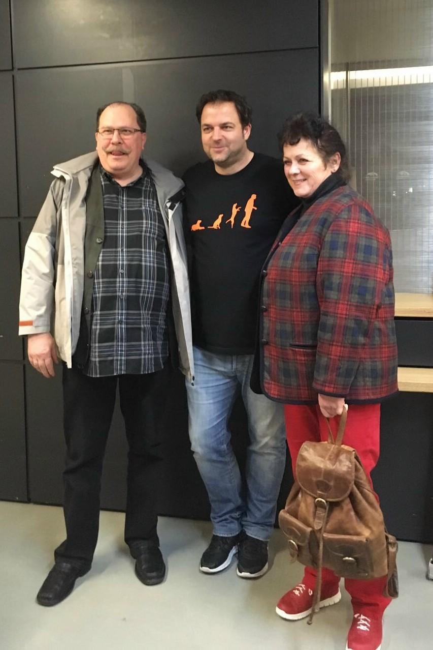Axel, Martin und Angela