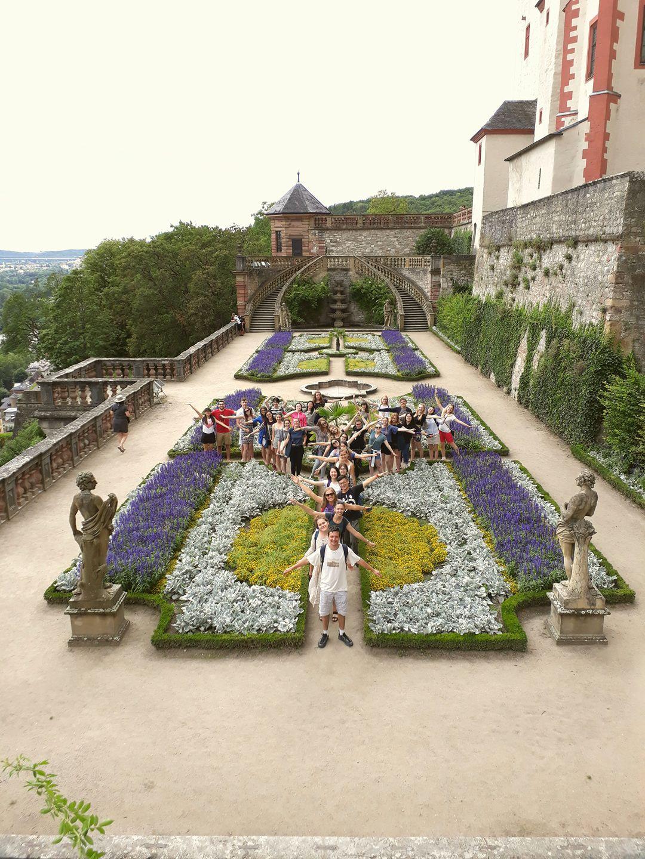 Deutsch-Sommersprachkurs Universität Würzburg, Deutsch lernen in Würzburg, Kulturprogramm, Festung Marienberg, Fürstengarten