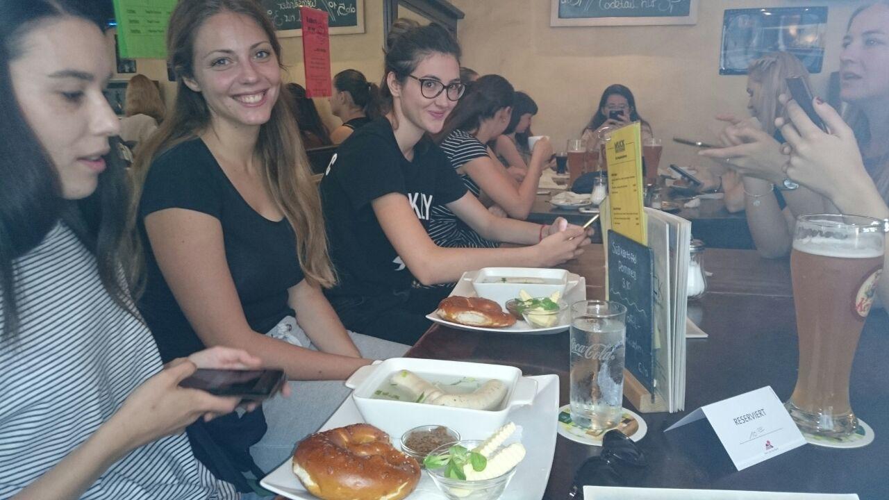 Deutsch lernen in Würzburg, Freizeit Weißwurstfrühstück
