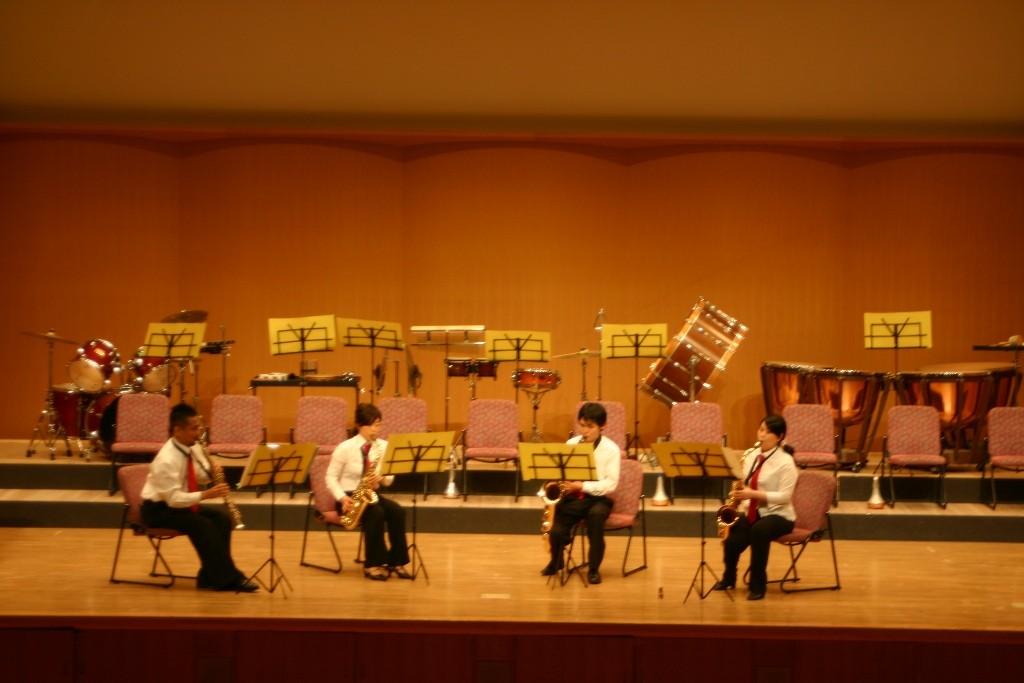 アンサンブルステージ・サックス4重奏♪