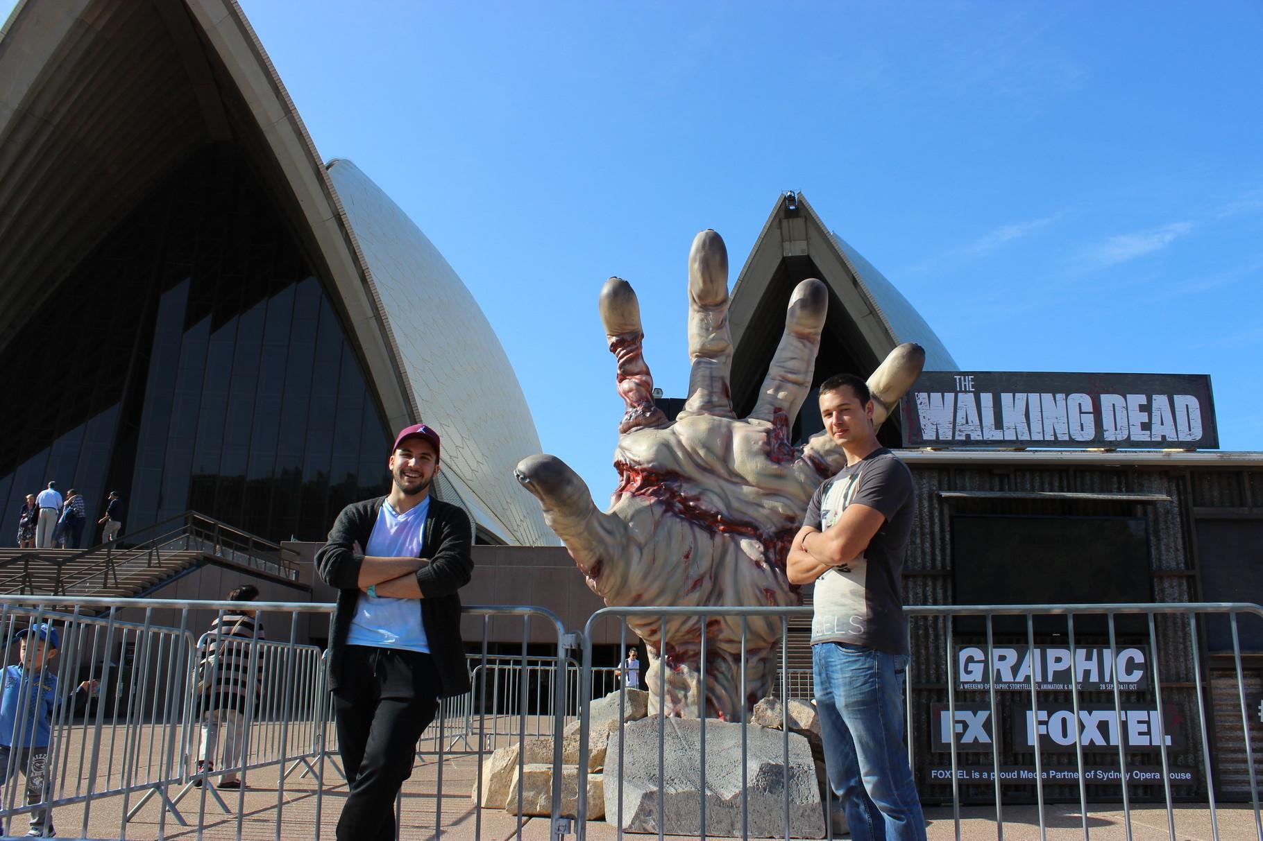 Opera House Sydney mit The Walkin Dead Special