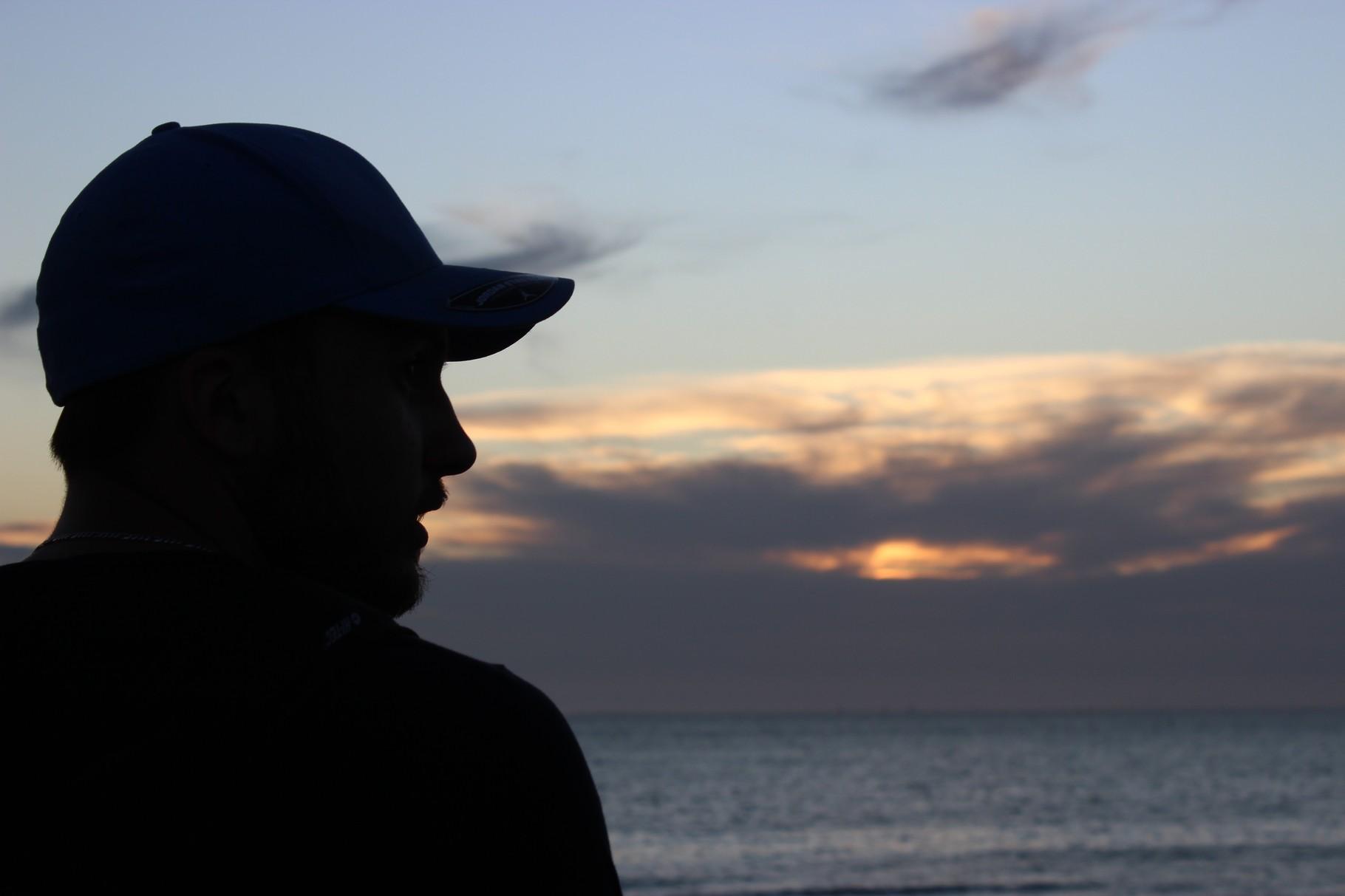 Sonnenuntergang am St. Kilda Beach, Melbourne