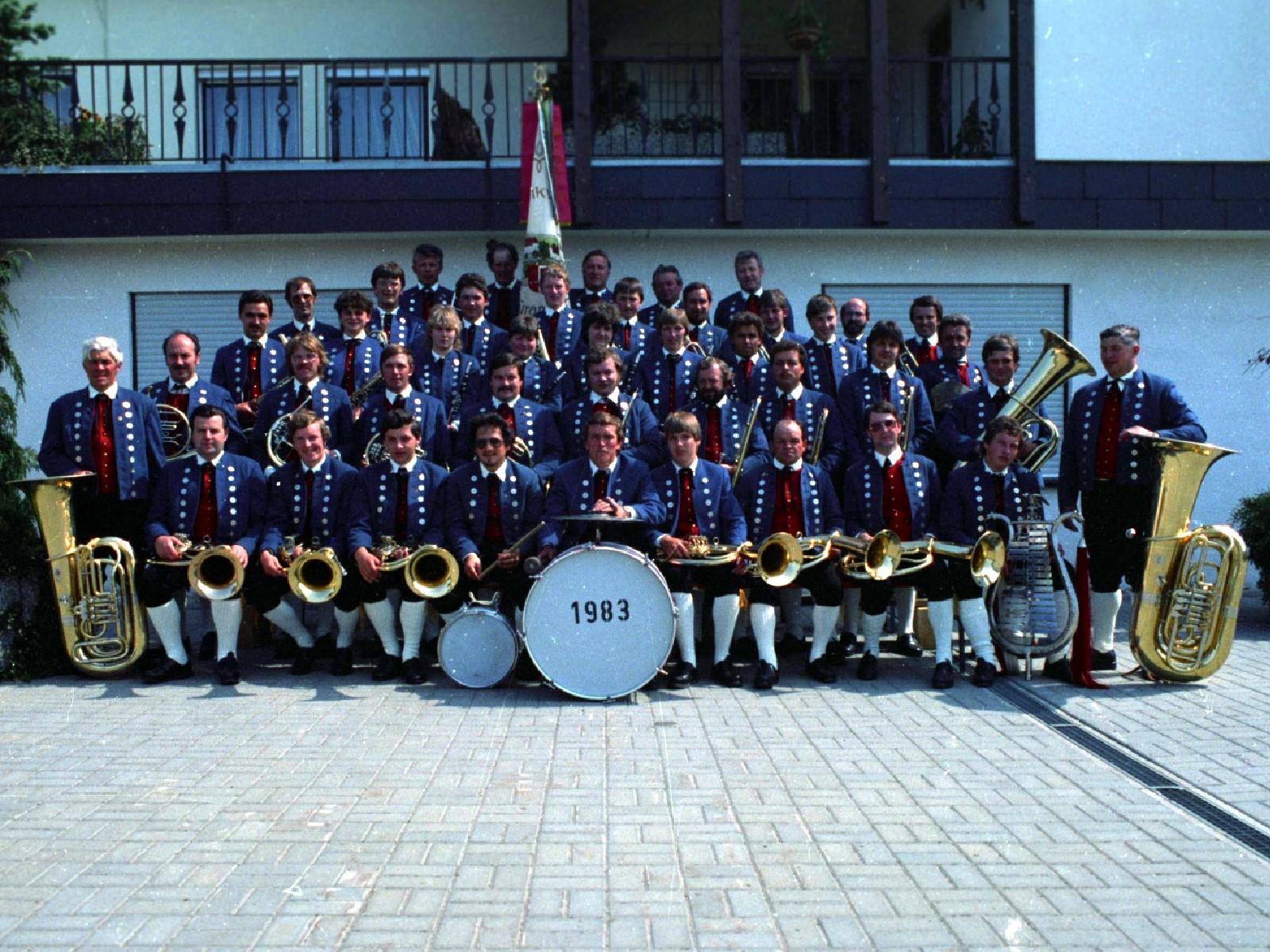 Musikverein Füramoos im Jahr 1983