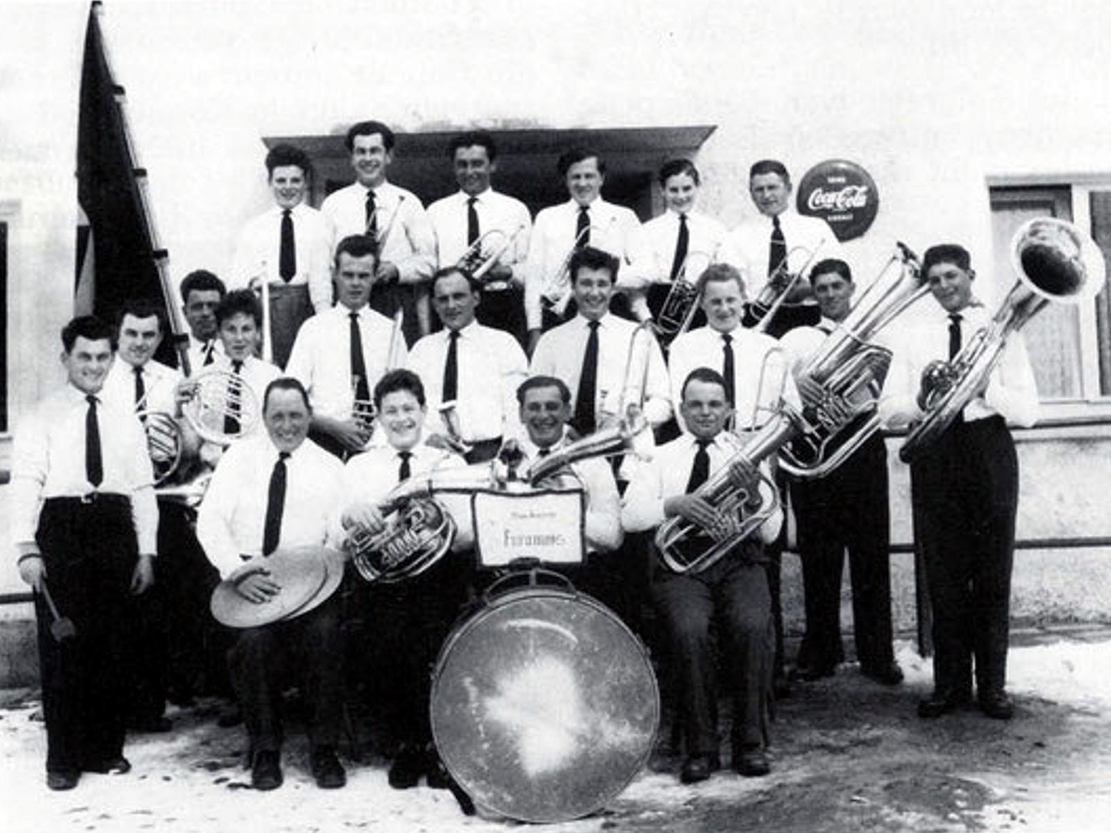 Musikverein Füramoos im Jahr 1958