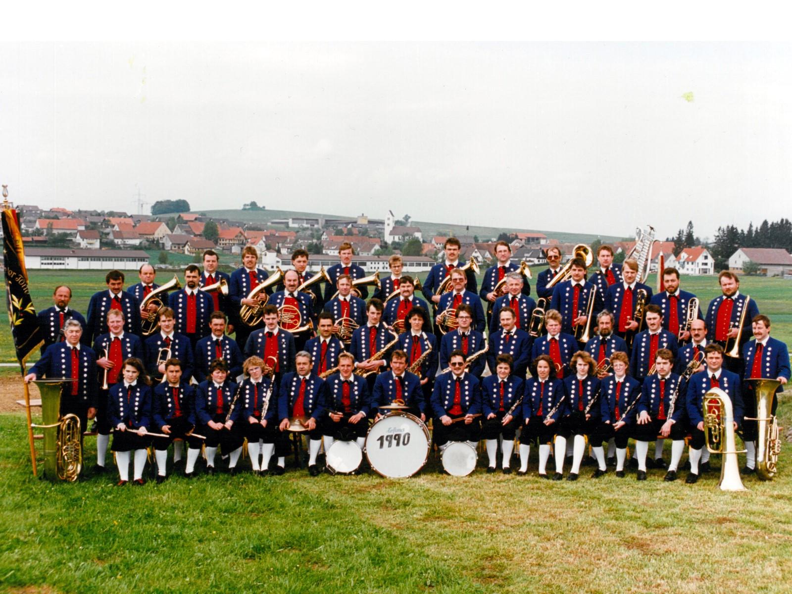 Musikverein Füramoos im Jahr 1990
