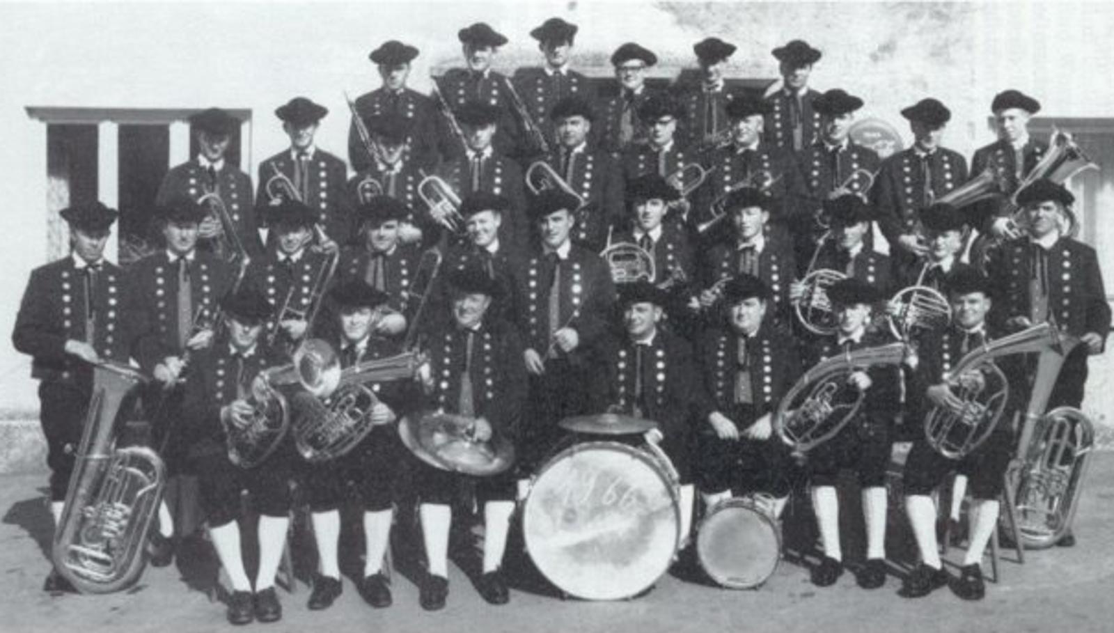 Musikverein Füramoos im Jahr 1966