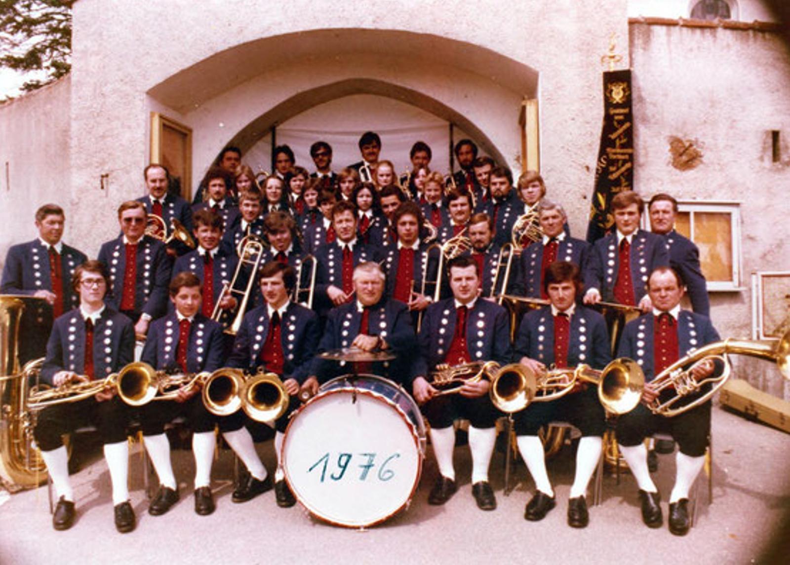 Musikverein Füramoos im Jahr 1976