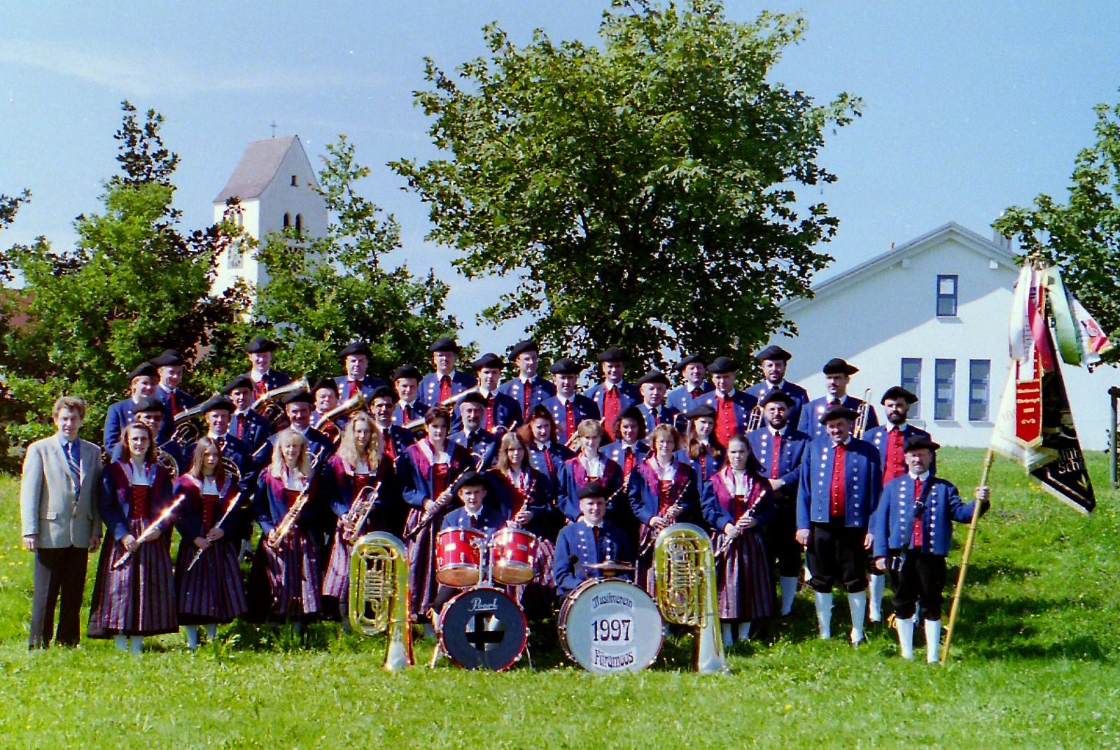 Musikverein Füramoos im Jahr 1997