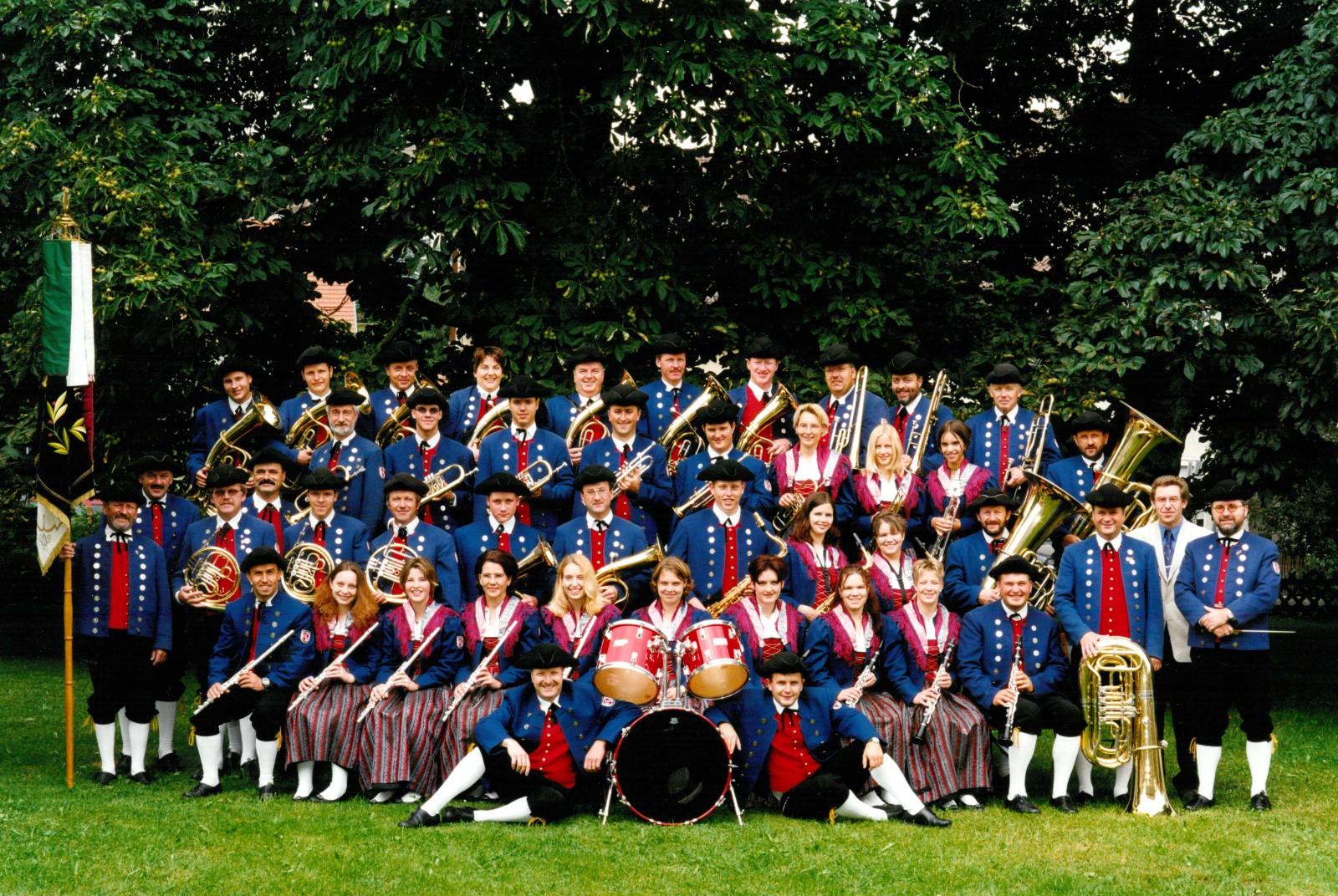 Musikverein Füramoos im Jahr 2002