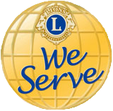 We serve - Lions Club Logo