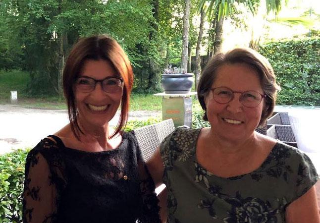 Präsidentin Margit Wolfesberger & Past Präsidentin Heidi Eder bei der Übergabe der Präsidentinnenschaft am Montag, 24. Juni 2019