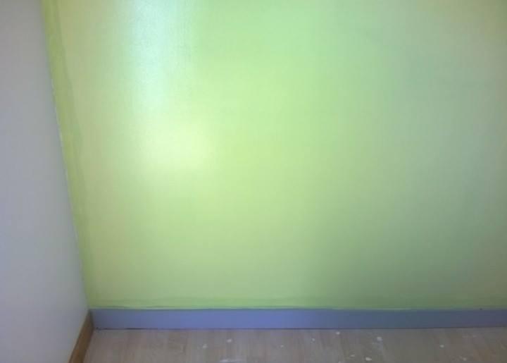 Chambre vert pomme & gris souris - Site de sanchopeinturedeco !