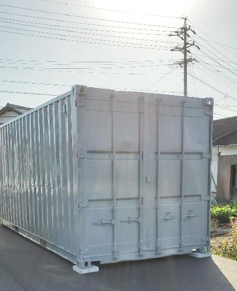可児市川合 中古コンテナ20ftグレー塗装設置