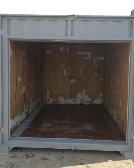 ■貨物用コンテナ12フィート シャッター・観音扉付き(中古/グレー塗装)