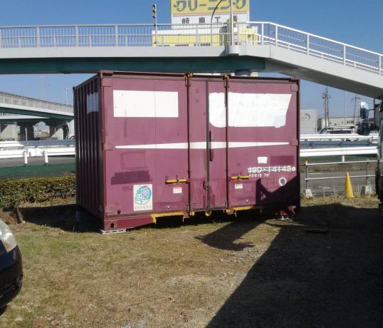 羽島郡岐南町 中古コンテナ12ft現状品設置