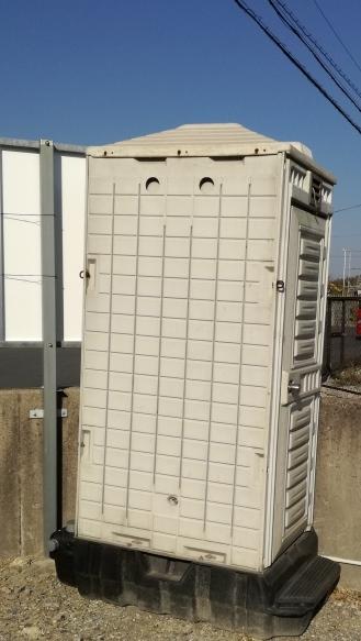 三重県四日市市 仮設トイレ×2基 設置