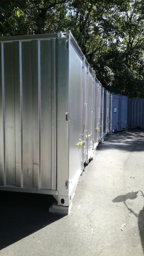 可児郡御嵩町 中古貨物コンテナ12ftシルバー塗装設置