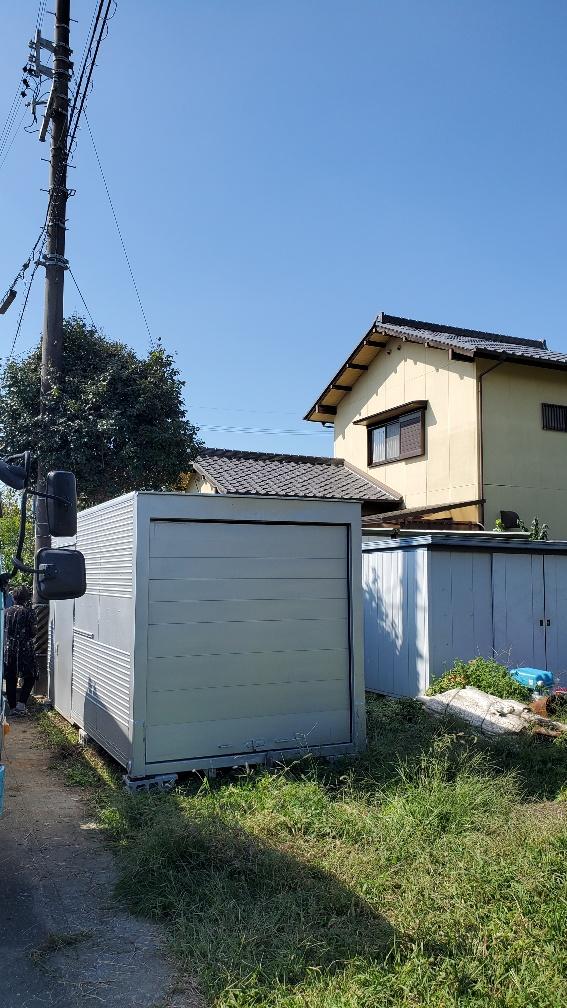愛知県 豊川市 中古 2t アルミコンテナ サイドドア シャッター