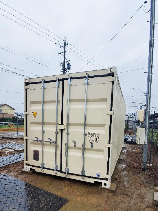 愛知県西尾市 NEWVANコンテナ20ft設置