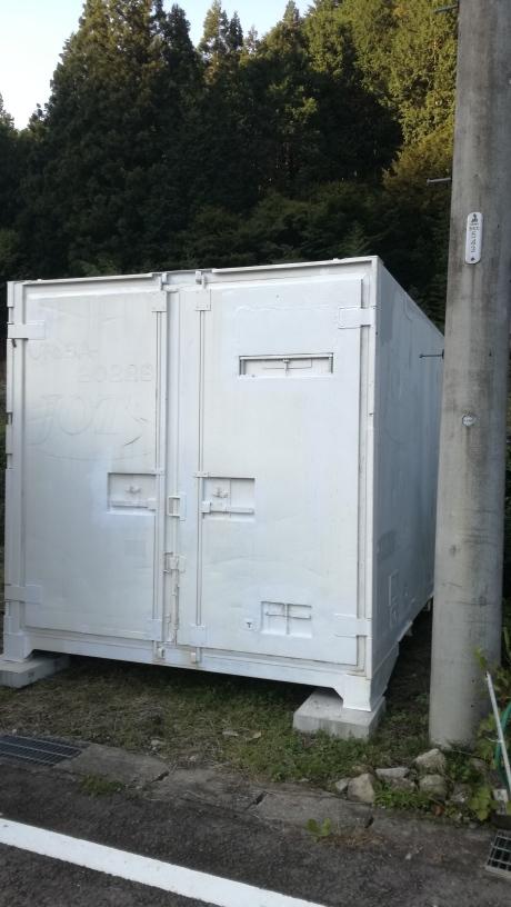 岐阜県下呂市 中古保冷コンテナ12ft設置