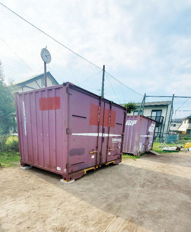岐阜県美濃加茂市 中古貨物コンテナ12ft現状品設置