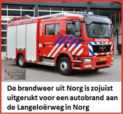"""Het betreft een auto ongeluk te hoogte van """"De Norgerberg"""""""