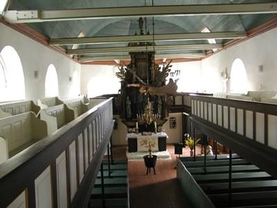 Foto vom Innenraum der Kirche Oberndorf