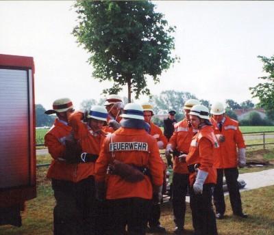 Foto von der Feuerwehr Oberndorf bei einer Übung