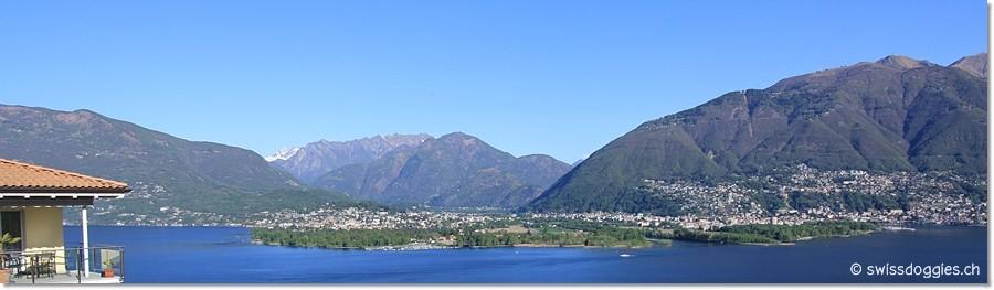 Blick hinüber nach Ascona/Locarno...