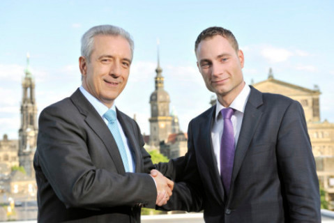 The Prime Minister of Saxony, Stanislaw Tillich, and I