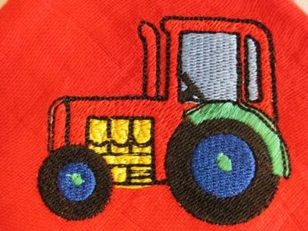 Traktor auf Nuscheli