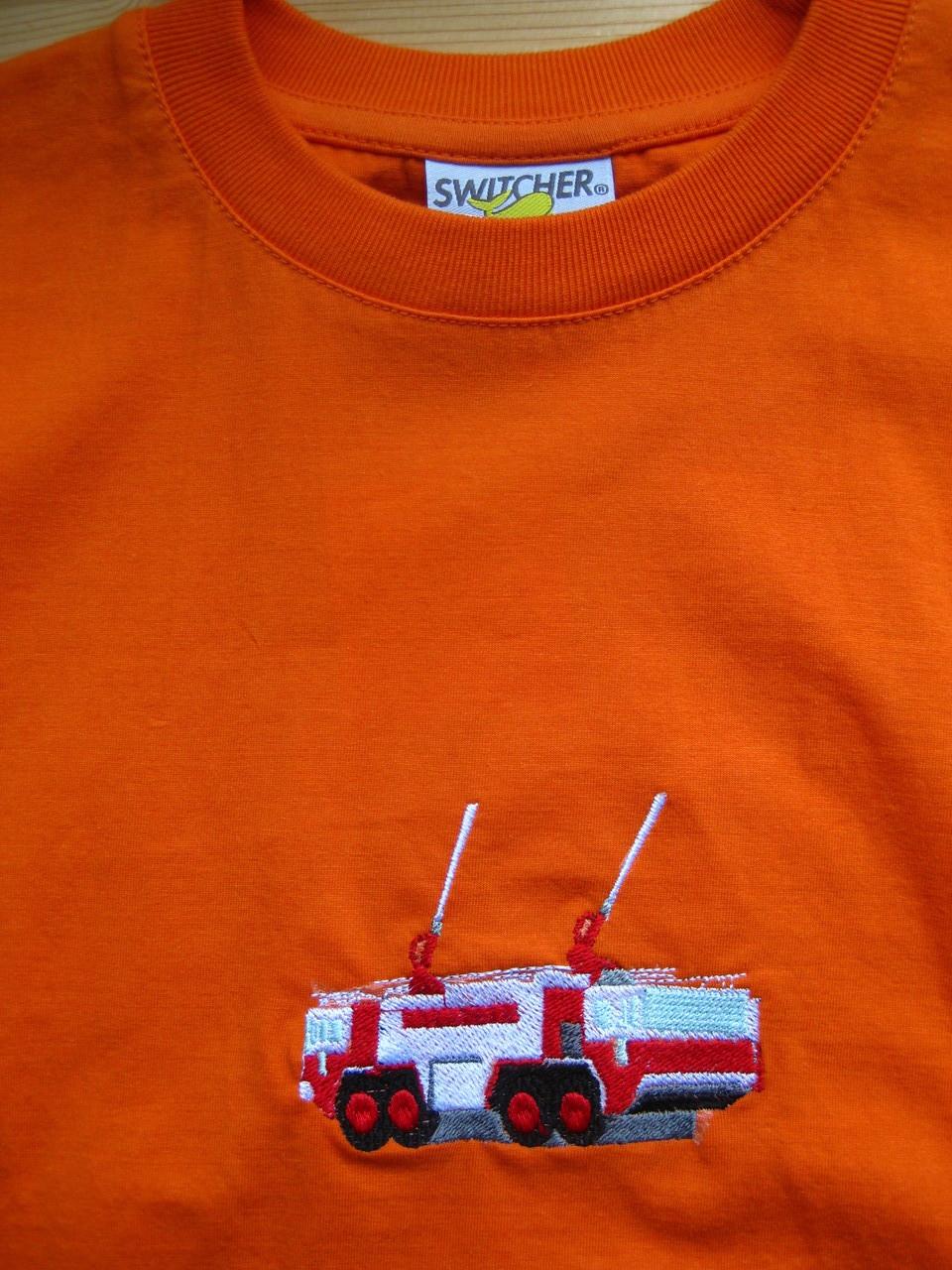 T-Shirt mit Feuerwehrauto