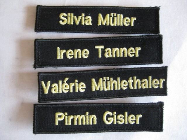 Namensschilder