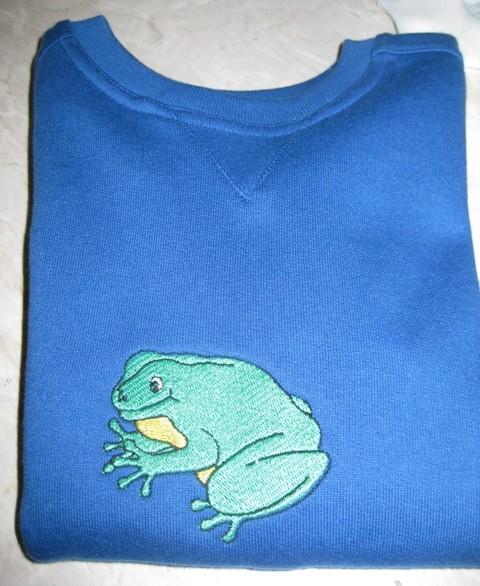 Pullover mit Frosch