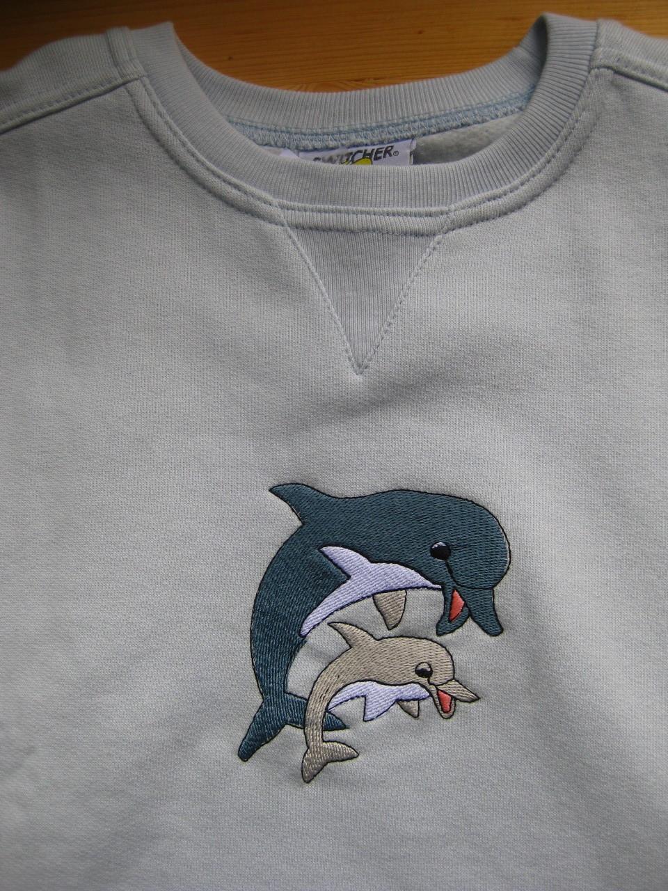 Pullover mit Delfinen