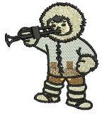 Eskimo mit Trompete