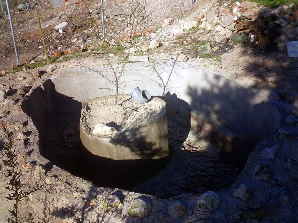 El estanque de las ocas en construcción - Le bassin des oies en construccion