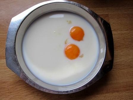 Milch, Stärke und Ei