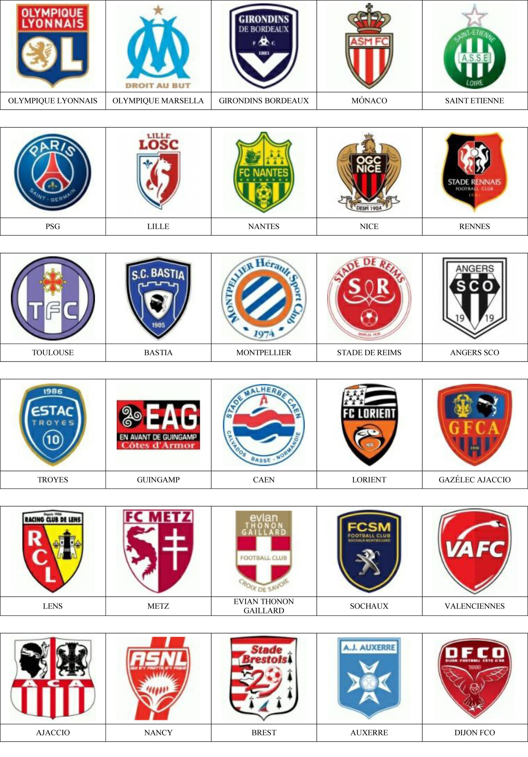 Francia Pins De Escudos Insiginas De Equipos De Fútbol