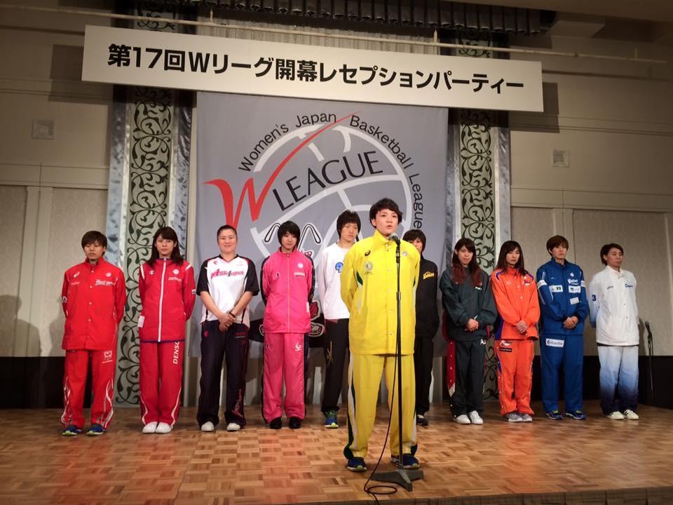 各チームキャプテンを代表してJX-ENEOS吉田選手挨拶