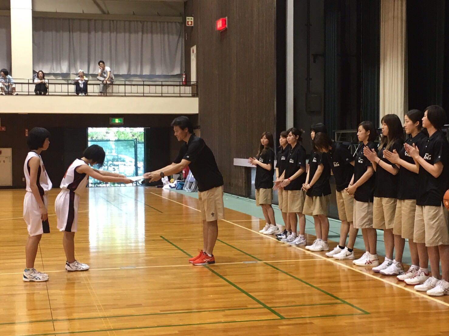 表彰式 3位:豊田市立梅坪台中学校