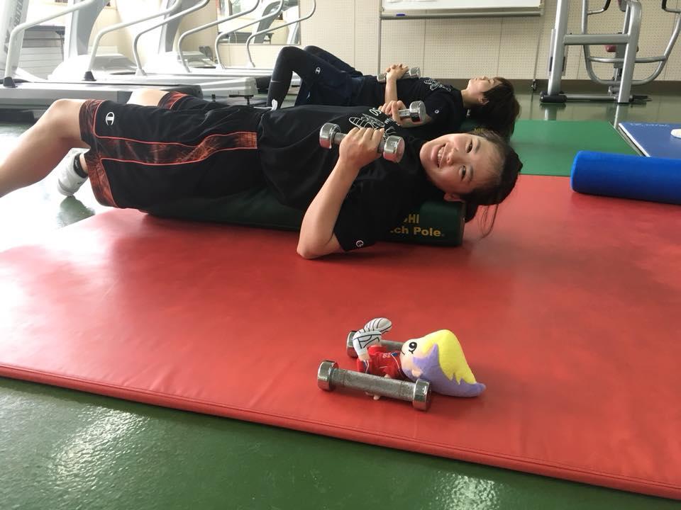 キャンと一緒にアイリスちゃんもトレーニング(^O^)