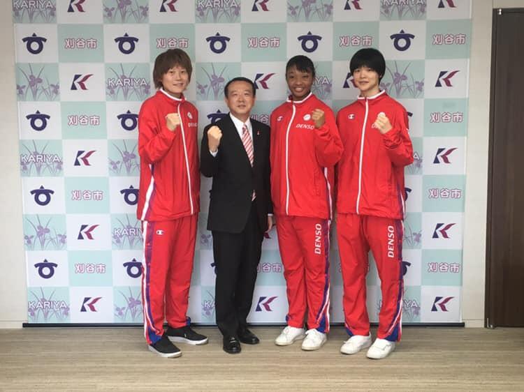 髙田選手、川口副市長、オコエ選手、赤穂ひまわり選手