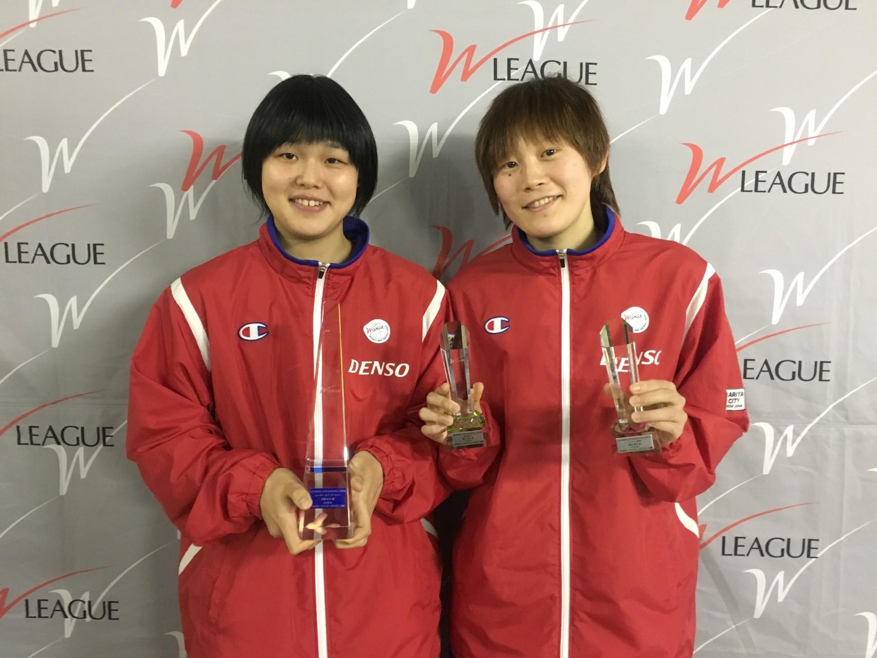 髙田真希選手と赤穂さくら選手2人で記念撮影!受賞おめでとう!