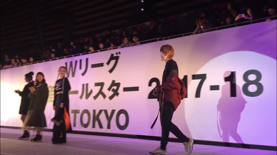 TGCでランウェイを歩く高田選手