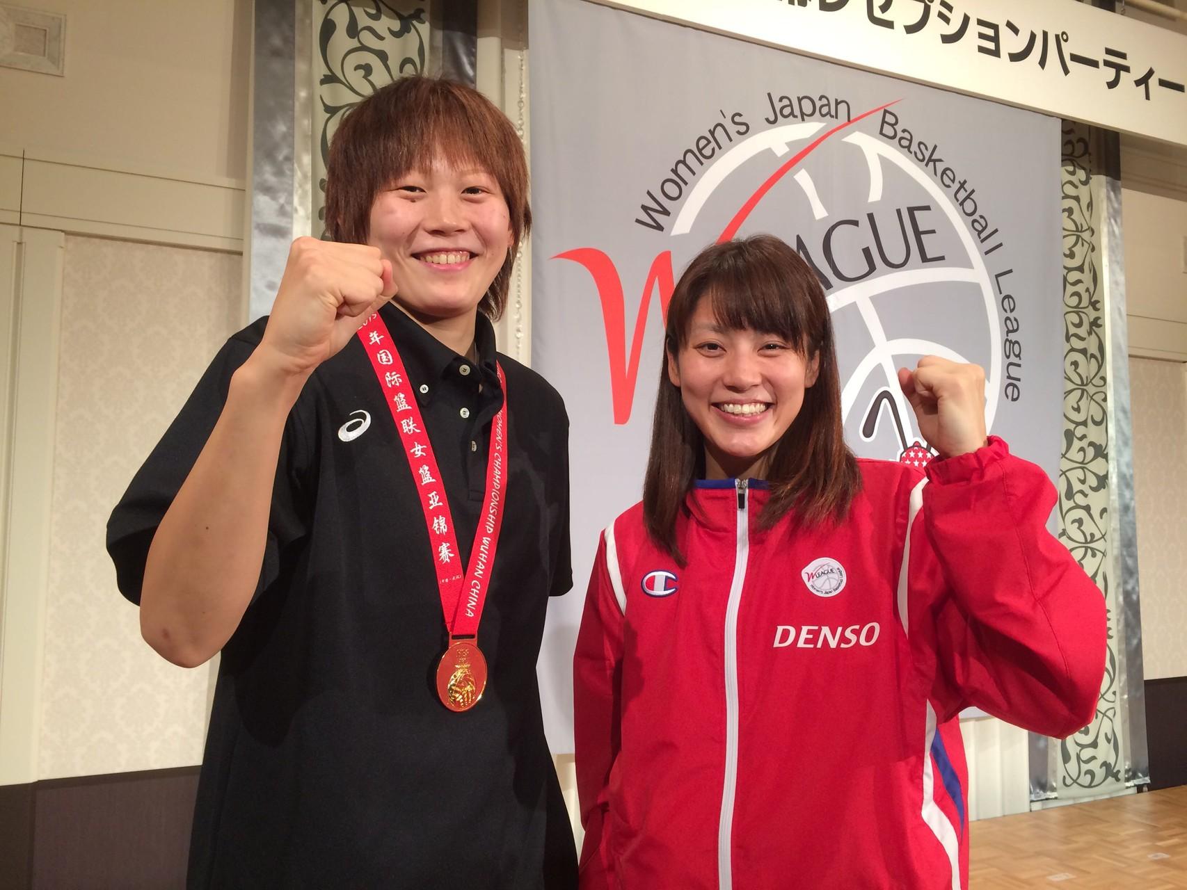 高田真希選手と大庭選手