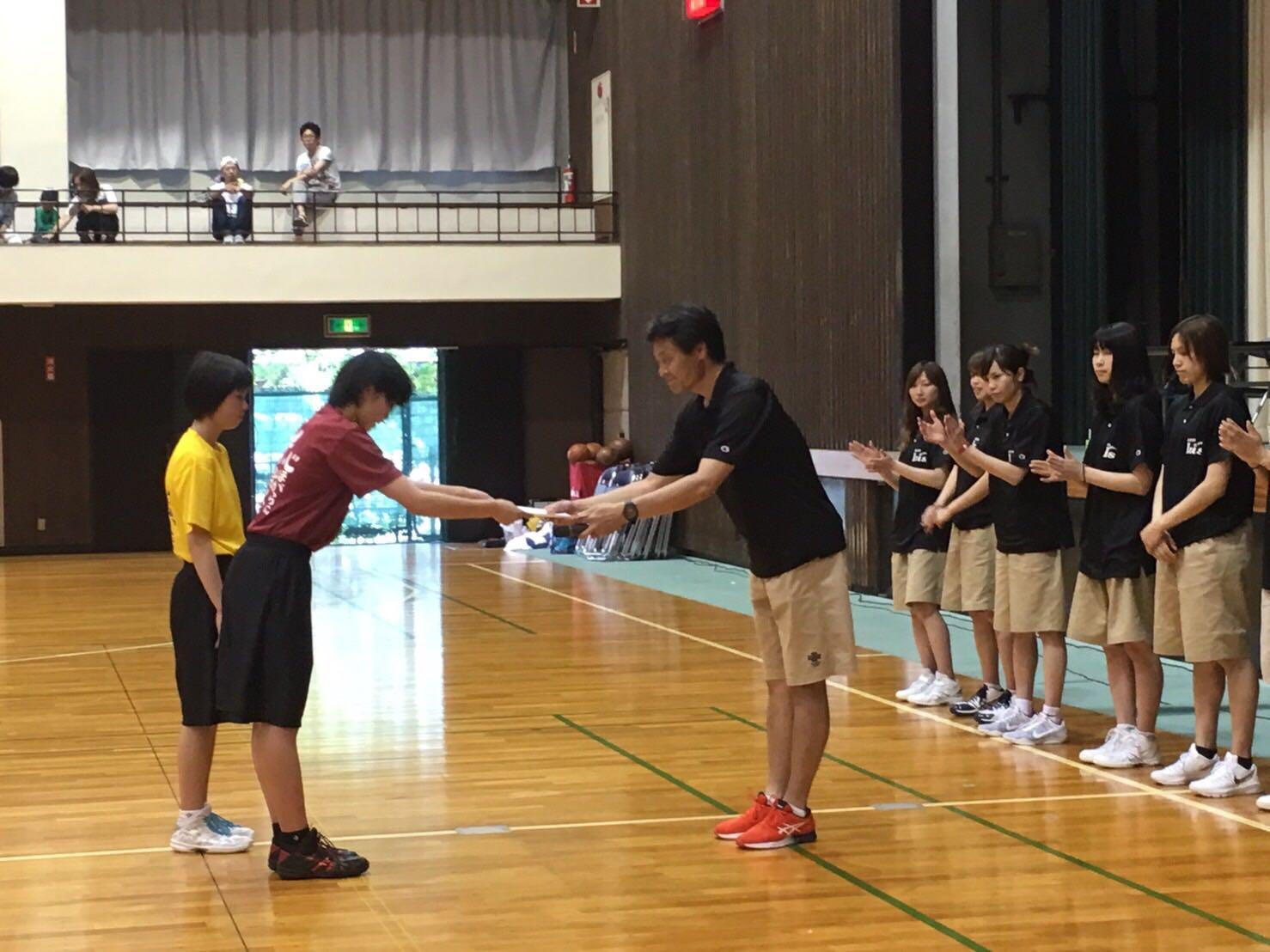 表彰式 2位:岡崎市立南中学校