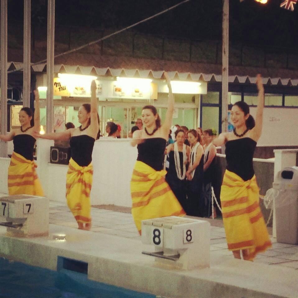 ハイランドプールで踊り、とても気持ちよかったです。