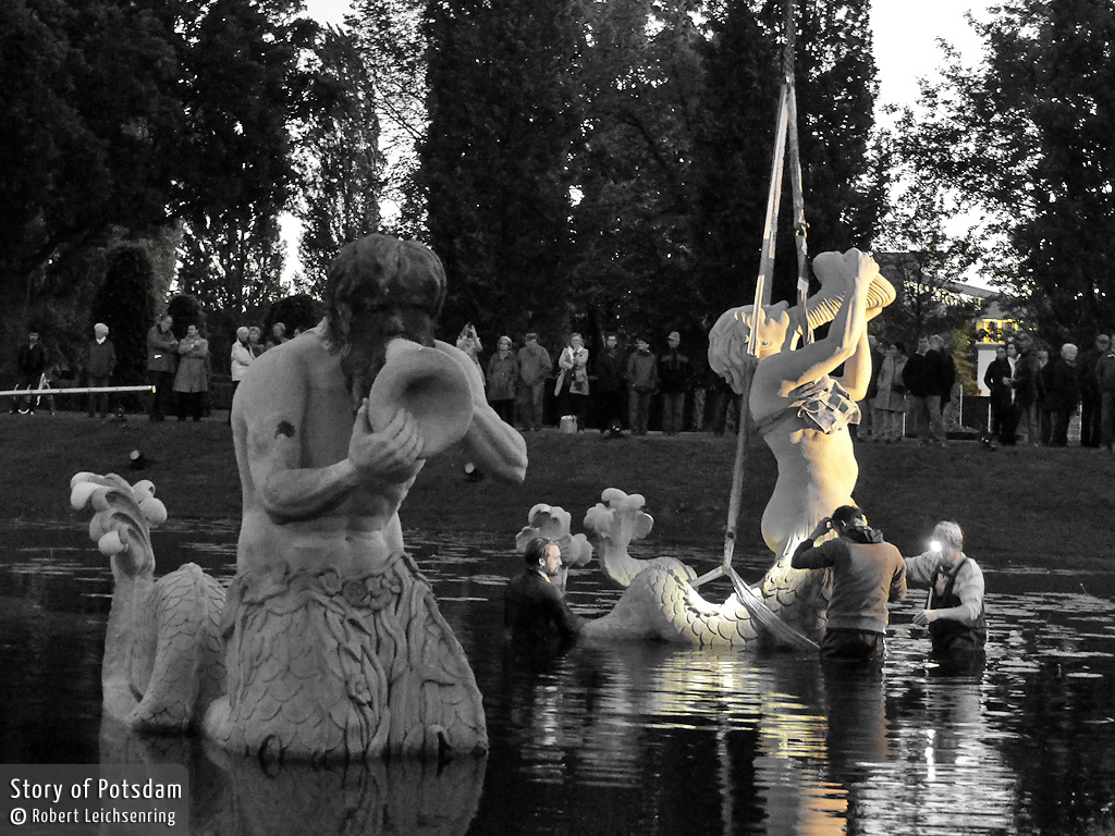 Triton des Neptunbeckens in Potsdam