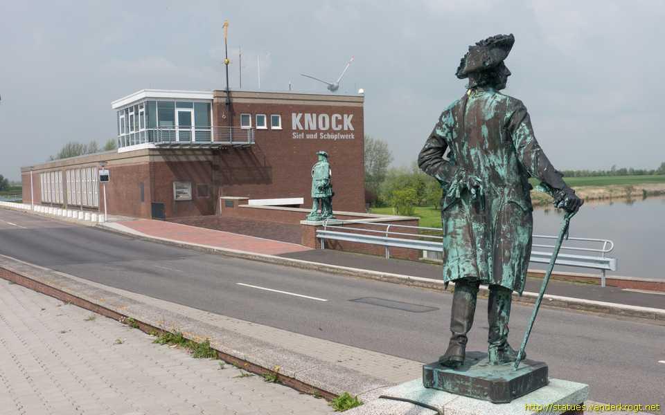 Statuen Friedrichs des Großen und des Großen Kurfürsten am Schöpfwerk Knock